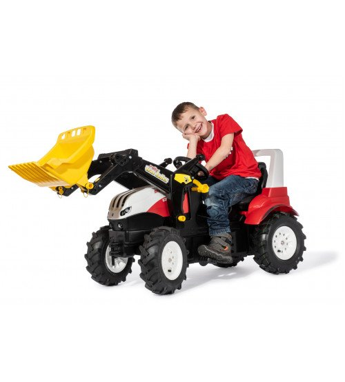 Traktors ar pedāļiem rollyFarmtrac Steyr 6300 Terrus CVT ar kausu un piepūš. riteņiem 710065 (3-8 gadiem) Vācija