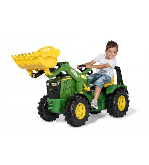 Traktors ar pedāļiem rollyX-Trac Premium John Deere 8400R ar kausu 651047 (3-10 gadiem) Vācija