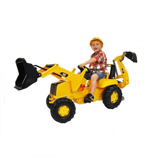 Traktors ar pedāļiem un diviem kausiem Rolly Toys rollyJunior CAT (3-8 gadiem) 813001
