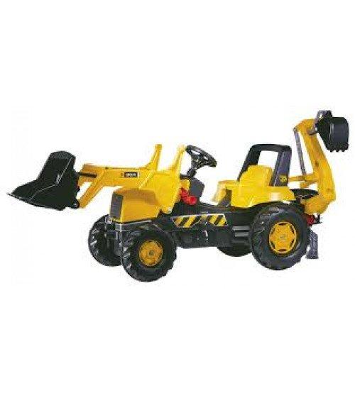 Traktors ar pedāļiem un diviem kausiem Rolly Toys rollyJunior JCB (3-8 gadiem) 812004