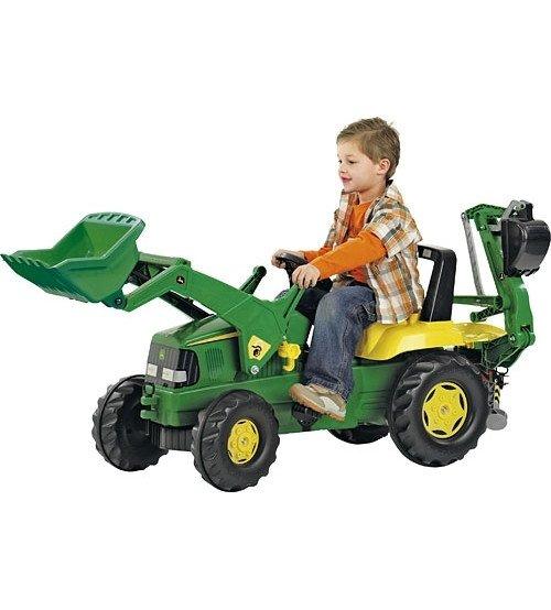 Traktors ar pedāļiem un diviem kausiem Rolly Toys rollyJunior John Deere (3-8 gadiem) 811076