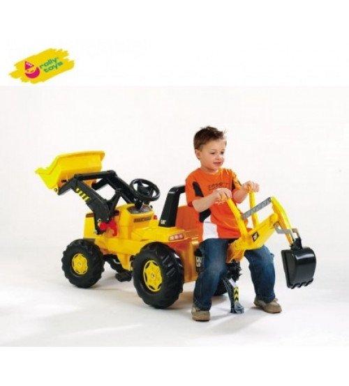 Traktors ar pedāļiem un diviem kausiem Rolly Toys rollyJunior NH Construction (3-8 gadiem) 813117