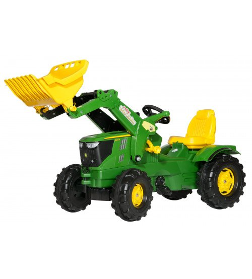 Traktors ar pedāļiem un kausu Rolly Toys rollyFarmtrac John Deere 6210R (3 - 8 gadiem ) 611096