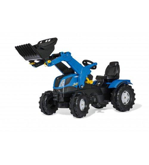 Traktors ar pedāļiem un kausu Rolly Toys rollyFarmtrac New Holland (3 - 8 gadiem) 611256