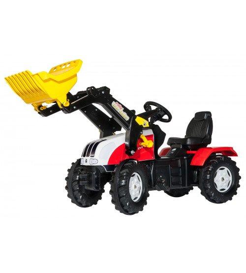 Traktors ar pedāļiem un kausu Rolly Toys RollyFarmtrac Steyr 6240 CVT 046317