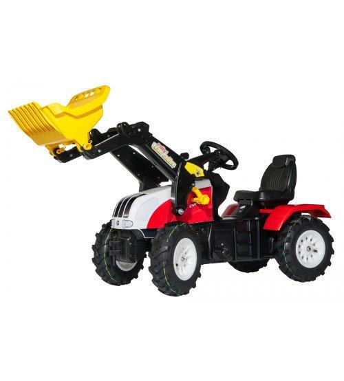 Traktors ar pedāļiem un kausu  Rolly Toys rollyFarmtrac Steyr 6240 CVT (piepūšamie riteņi) 046331