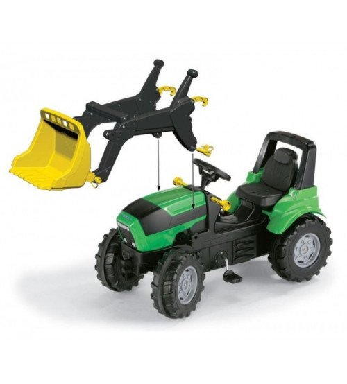 Traktors ar pedāļiem un noņemāmo kausu Rolly Toys rollyFarmtrac Deutz Agrotron 7250 TTV  (3 - 8 gadiem) 710034