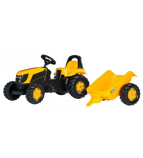 Traktors ar pedāļiem un piekabi Rolly Toys Rolly KID JCB 012619