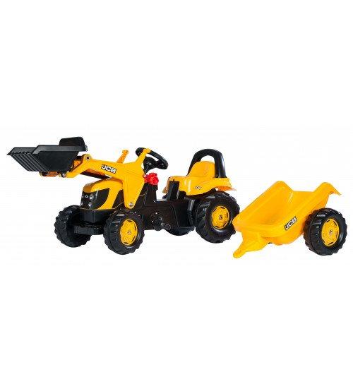 Traktors ar pedāļiem un piekabi  Rolly Toys Rolly KID JCB 023837