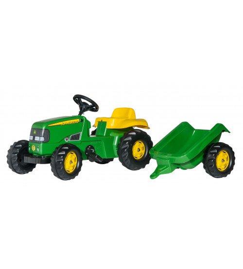 Traktors ar pedāļiem un piekabi Rolly Toys Rolly KID John Deere 012190