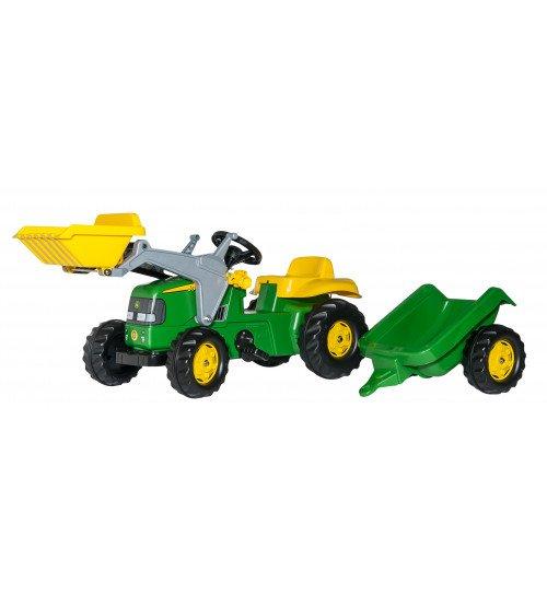 Traktors ar pedāļiem un piekabi Rolly Toys Rolly KID John Deere 023110