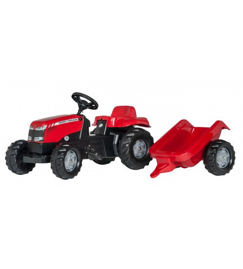 Traktors ar pedāļiem un piekabi Rolly Toys Rolly KID MF 012305