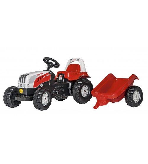 Traktors ar pedāļiem un piekabi Rolly Toys Rolly Kid Steyr 6165 CVT 012510