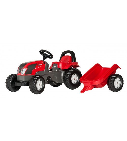 Traktors ar pedāļiem un piekabi Rolly Toys Rolly Kid Valtra 012527 (2.5-5 gadi)