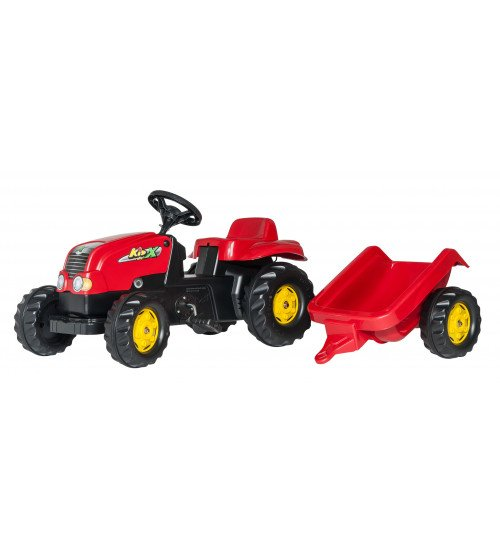 Traktors ar pedāļiem un piekabi Rolly Toys Rolly KID - X 012121