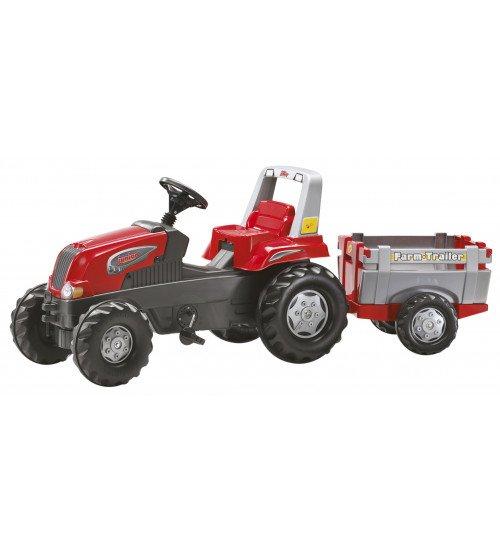 Traktors ar pedāļiem un piekabi Rolly Toys rollyFarmtrac Junior RT 800261