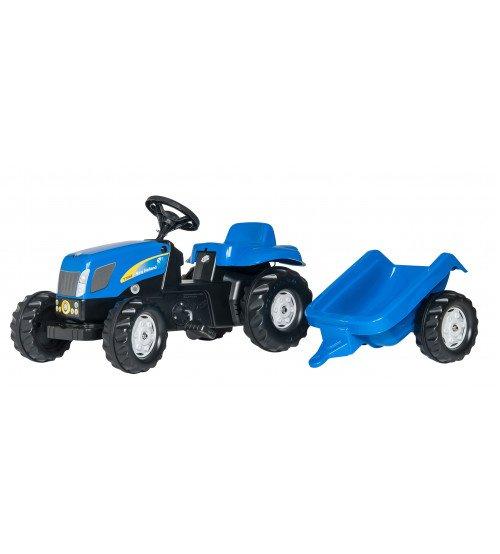 Traktors ar pedāļiem un piekabi Rolly Toys RollyKid NH T7040 013074 (2.5-5 gadi)