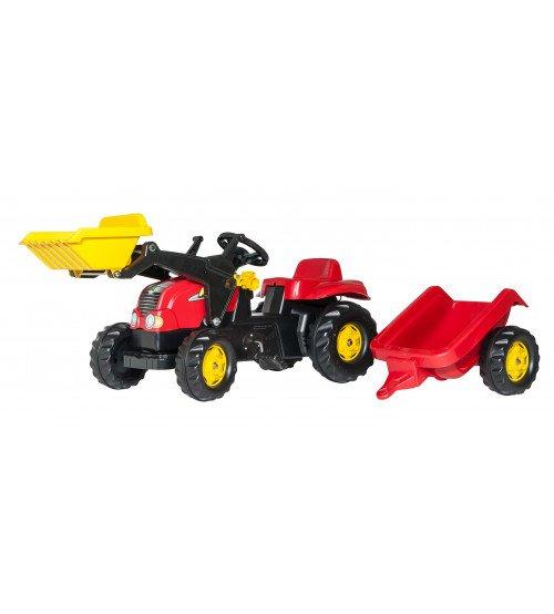 Traktors ar pedāļiem un piekabi Rolly Toys RollyKid-X 023127