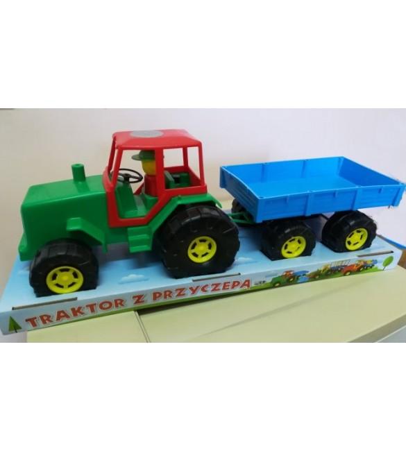 Traktors ar piekabi 50 cm NINA 00218