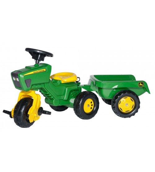 Traktors -  riteņis ar pedāļiem un piekabi Rolly Toys Rolly Trac John Deere 052769