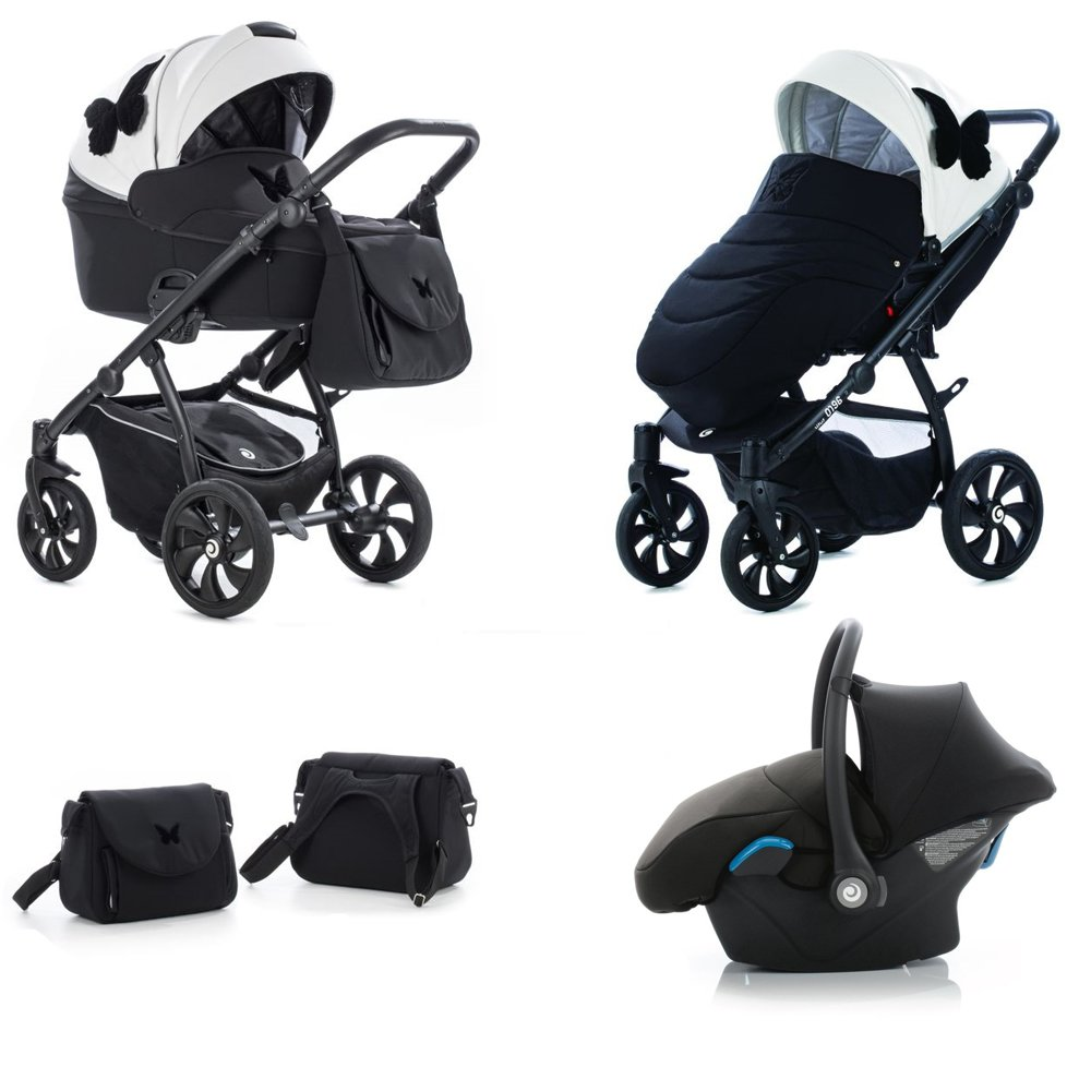 TUTIS Aero Limited Edition Black Butterfly 117 Bērnu rati 3in1