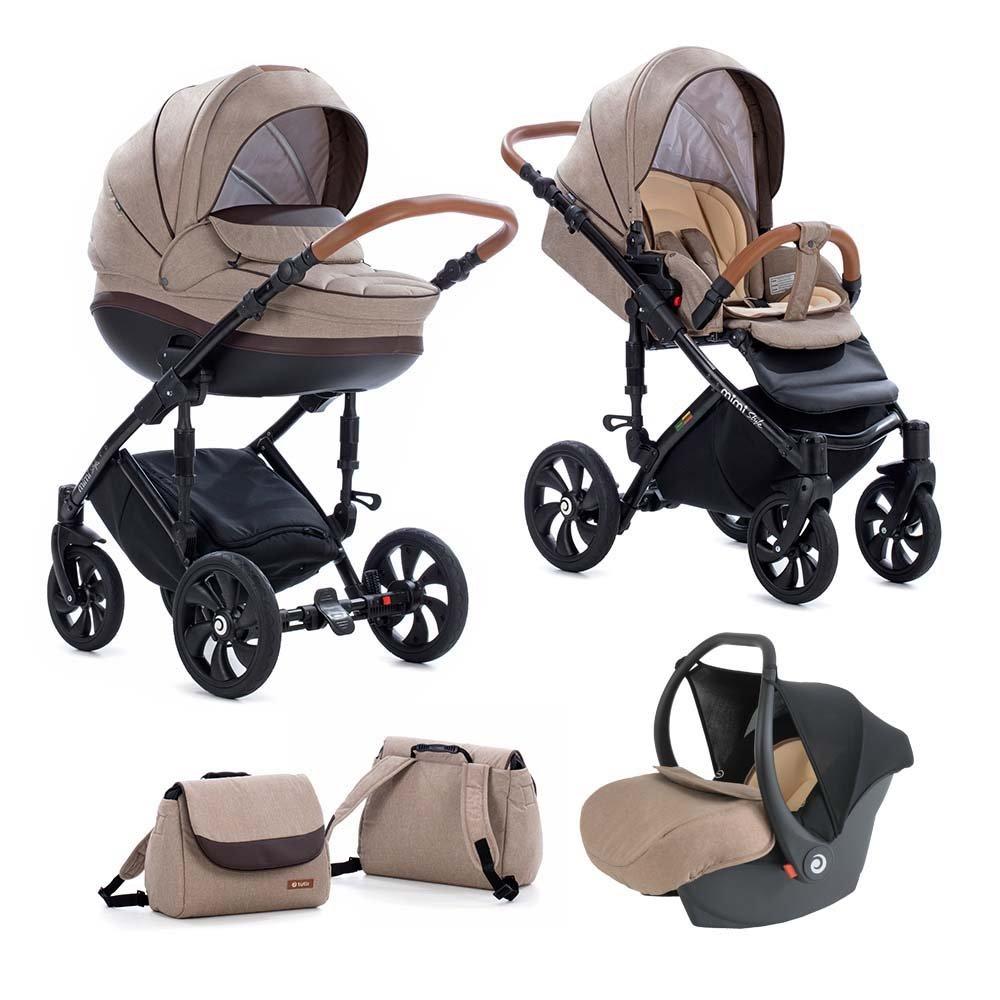 TUTIS MIMI Style 325 Brown Bērnu rati 3in1