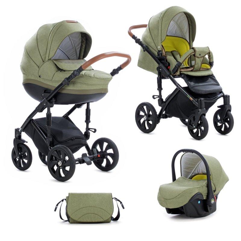 TUTIS MIMI Style 326 Olive Bērnu rati 3in1