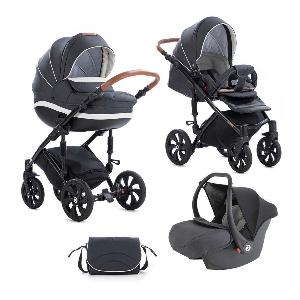 TUTIS MIMI Style 328 Black Bērnu rati 3in1