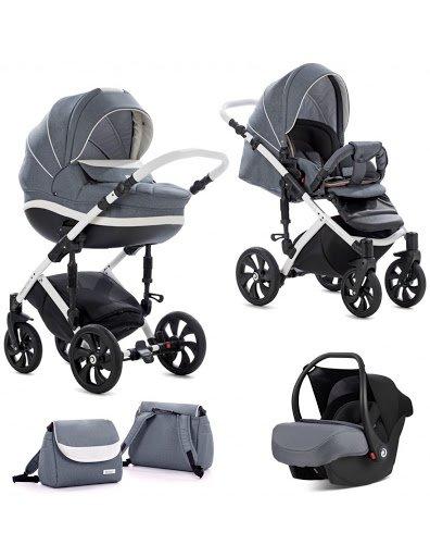 TUTIS MIMI Style 329 Dark Grey Bērnu rati 3in1