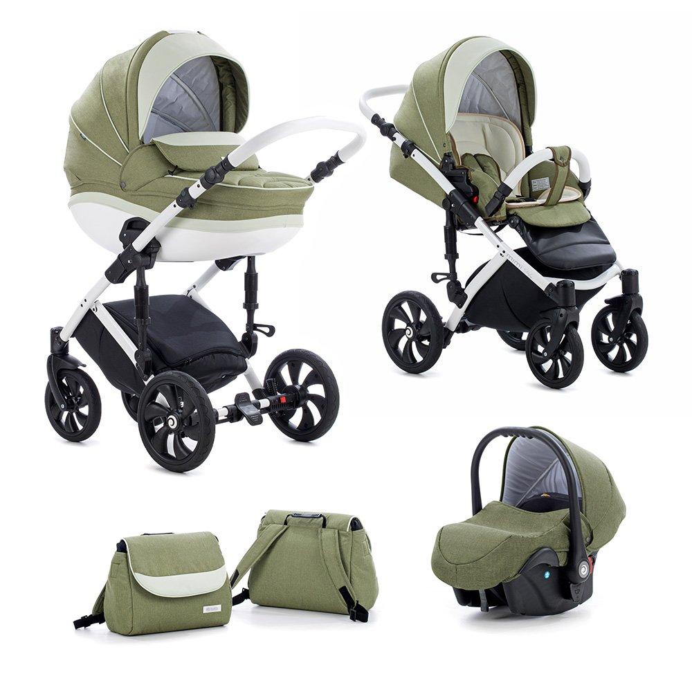 TUTIS MIMI Style 383 Green Olive Bērnu rati 3in1
