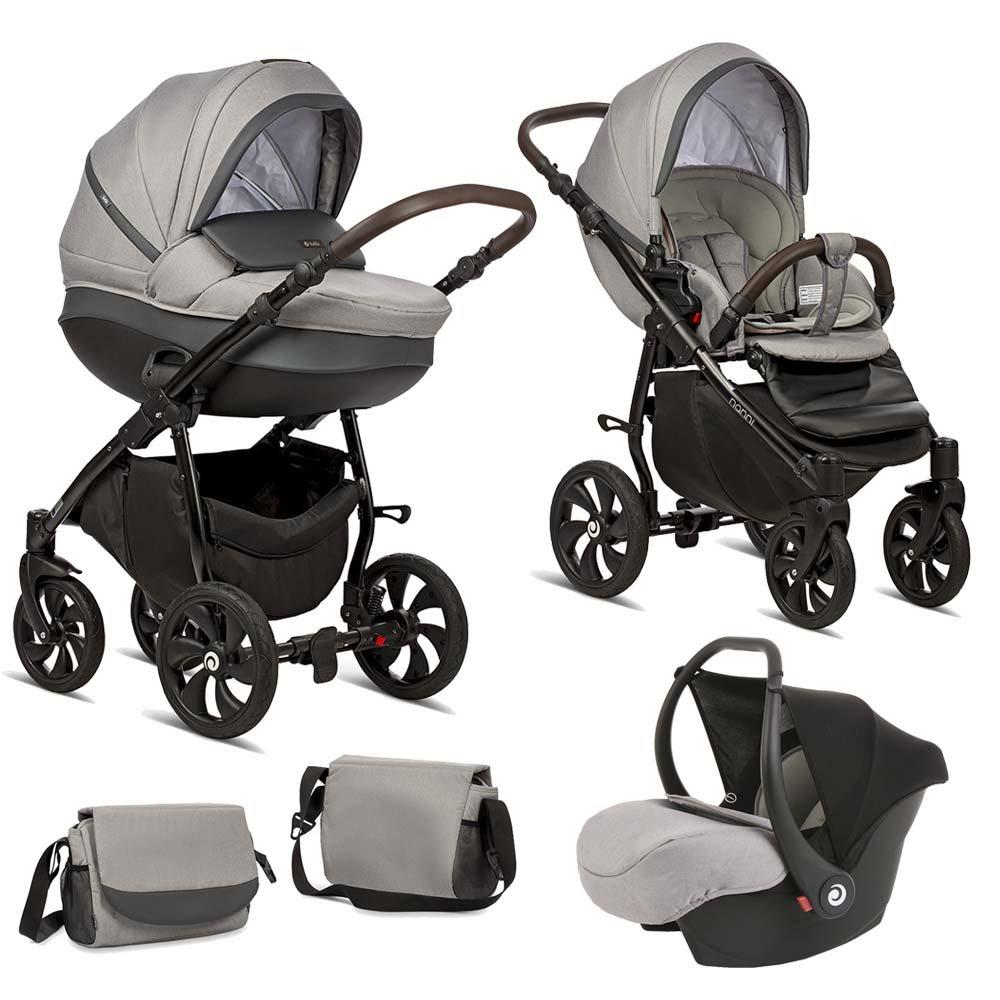 TUTIS NANNI 022 Grey Bērnu rati 3in1