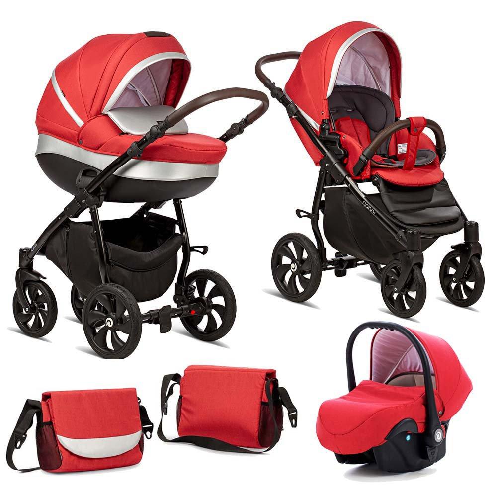 TUTIS NANNI 023 Red Bērnu rati 3in1