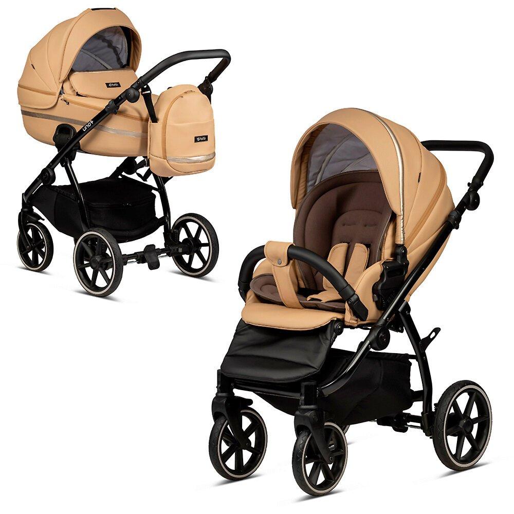 Tutis Uno 3 Plus Caramel 167 Eco Leather Bērnu rati 2in1