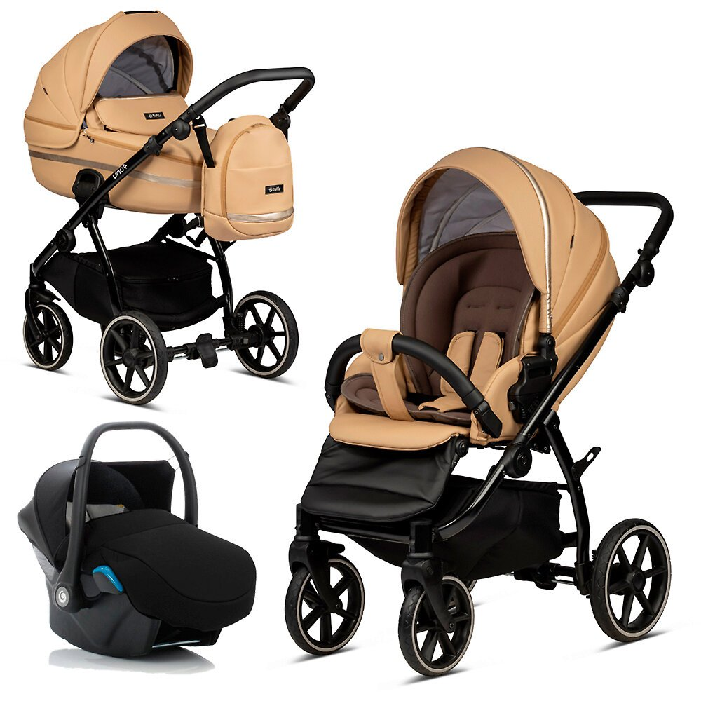 Tutis Uno 3 Plus Caramel 167 Eco Leather Bērnu rati 3in1
