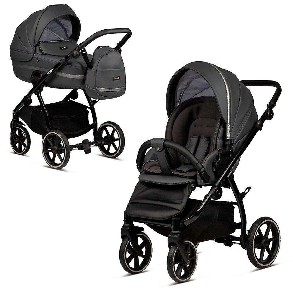 Tutis Uno 3 Plus Licorice 166 Eco Leather Bērnu rati 2in1