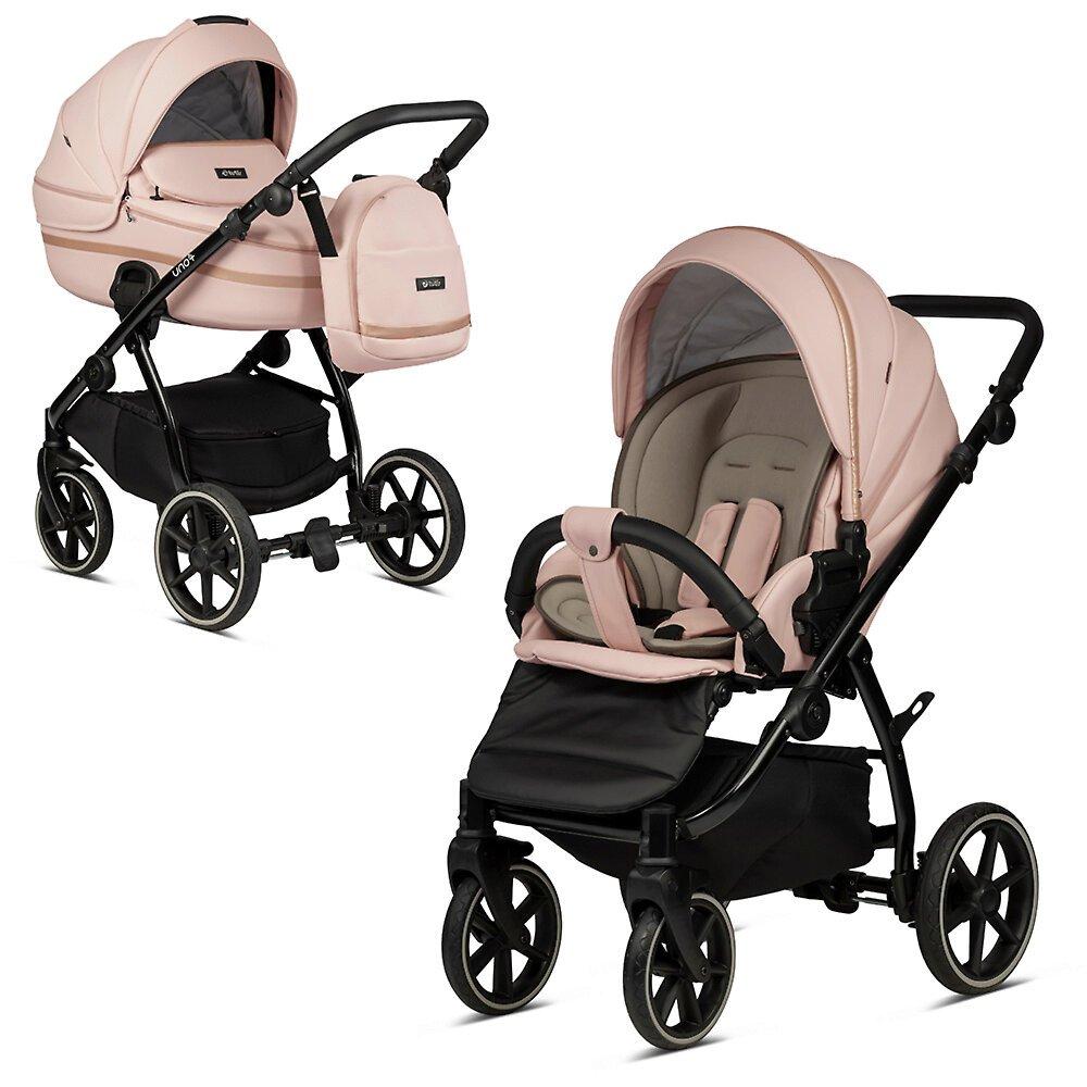 Tutis Uno 3 Plus Peach 197 Eco Leather Bērnu rati 2in1