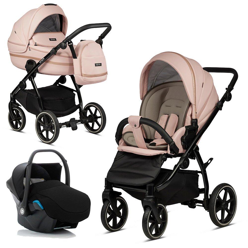 Tutis Uno 3 Plus Peach 197 Eco Leather Bērnu rati 3in1