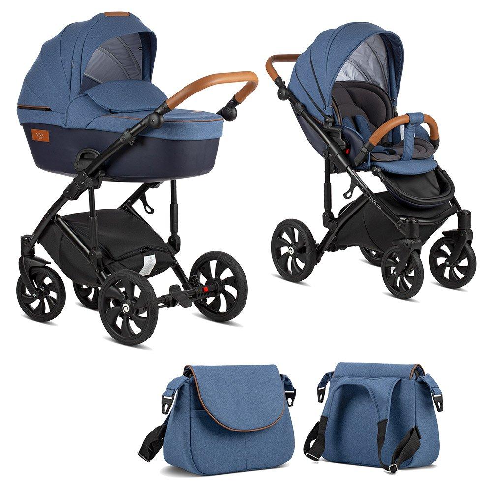 TUTIS VIVA Life Blue Indigo 076 Bērnu rati 2in1