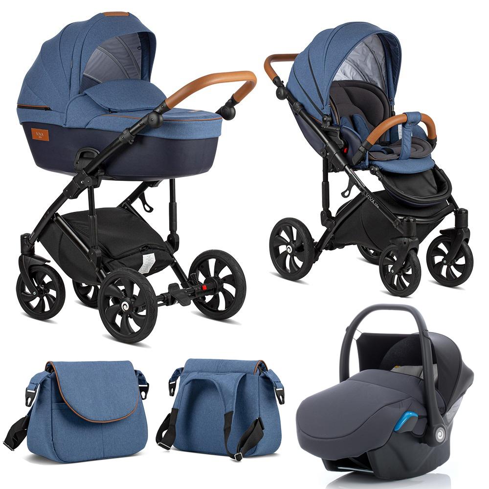 TUTIS VIVA Life Blue Indigo 076 Bērnu rati 3in1