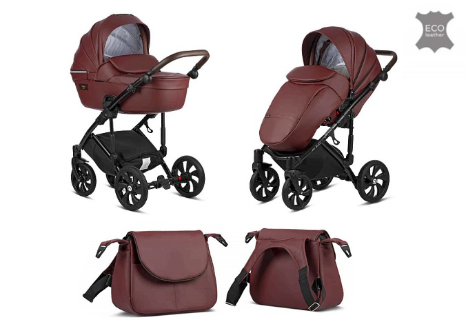 TUTIS Viva Life Leather Edition Garnet 089 Bērnu rati 2in1