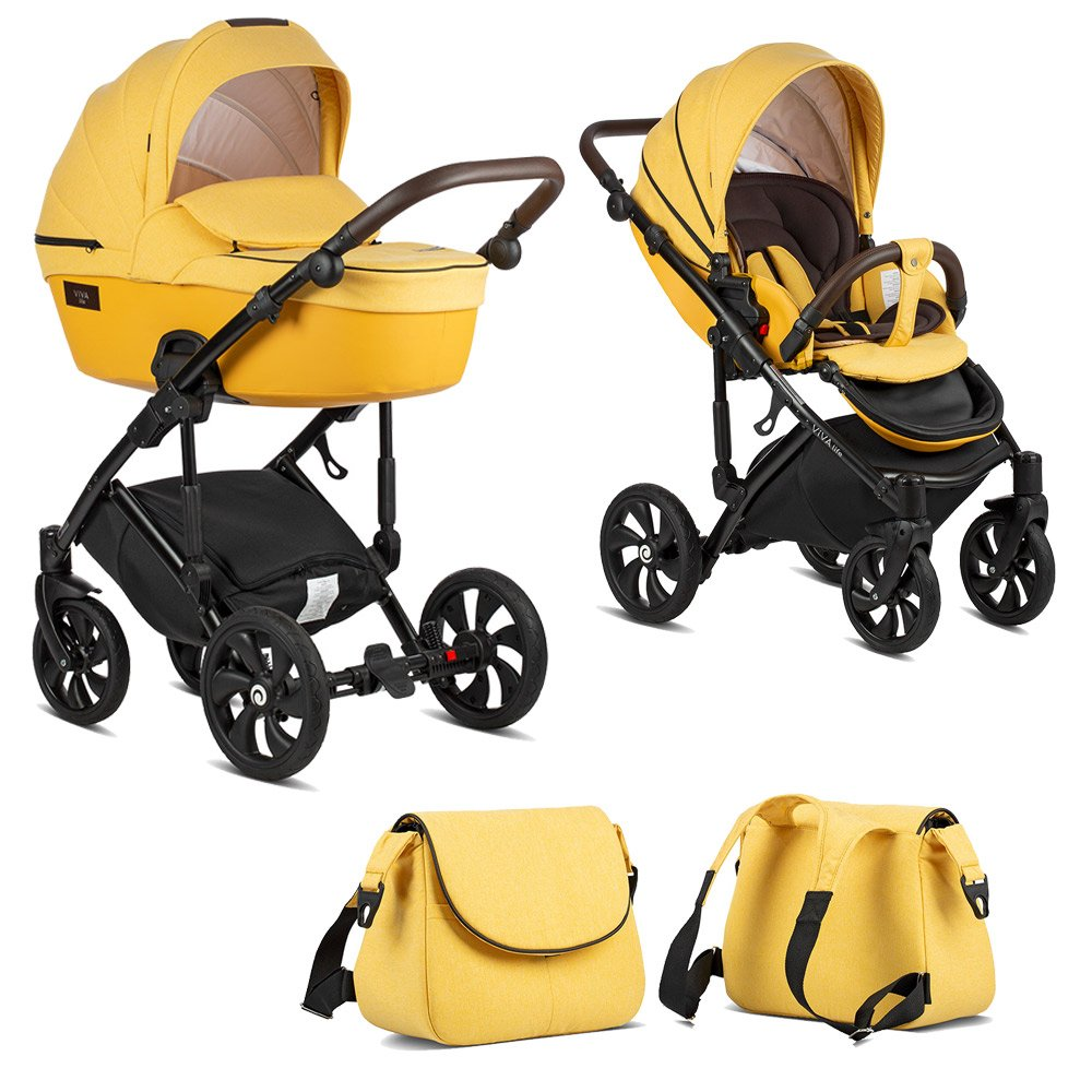 TUTIS VIVA Life Yolk Yellow 075 Bērnu rati 2in1