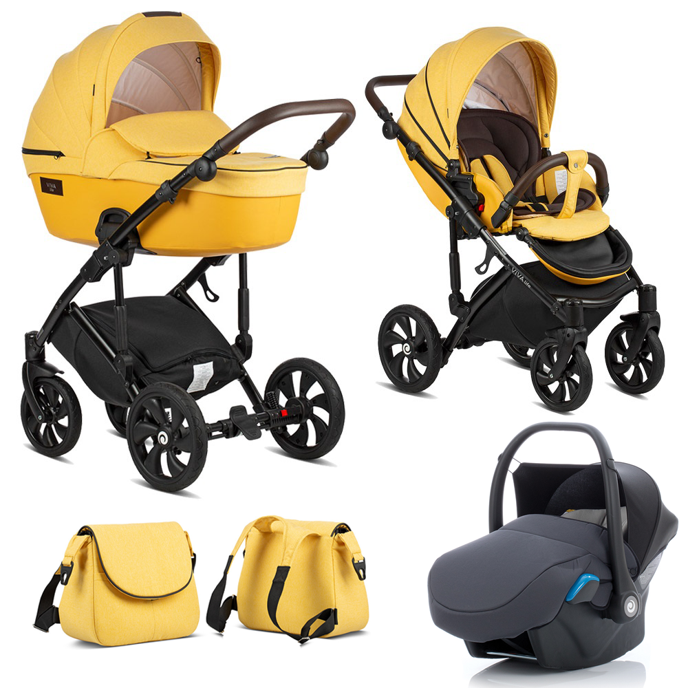 TUTIS VIVA Life Yolk Yellow 075 Bērnu rati 3in1
