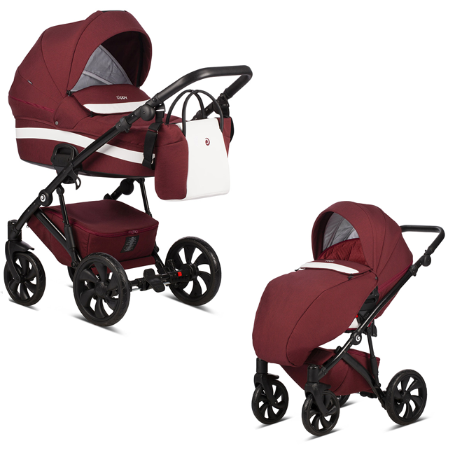 TUTIS Zippy 154 Cherry Bērnu rati 2in1