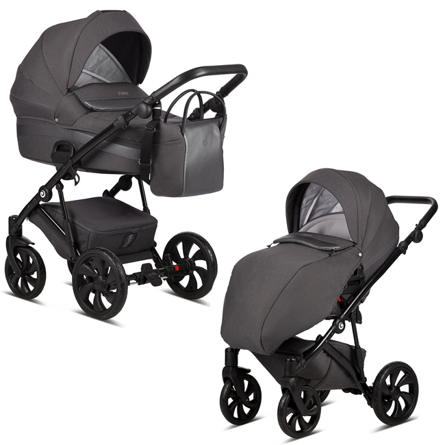 TUTIS Zippy 157 Dark grey Bērnu rati 2in1
