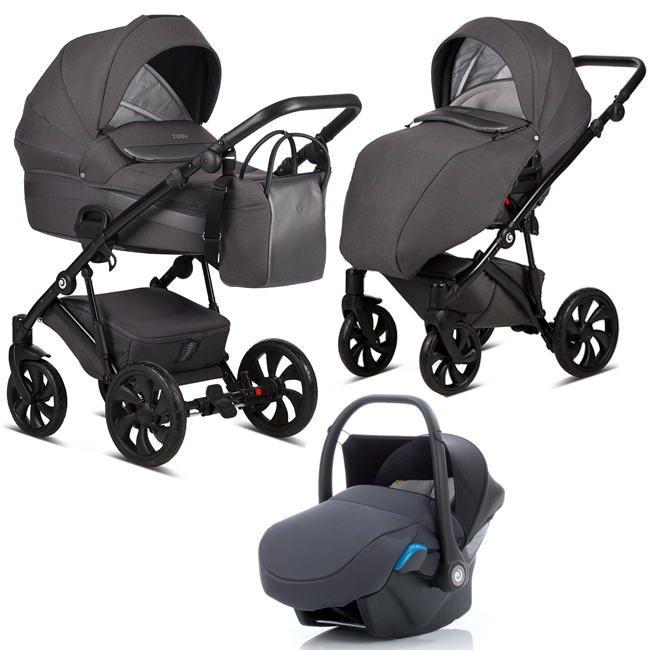 TUTIS Zippy 157 Dark grey Bērnu rati 3in1