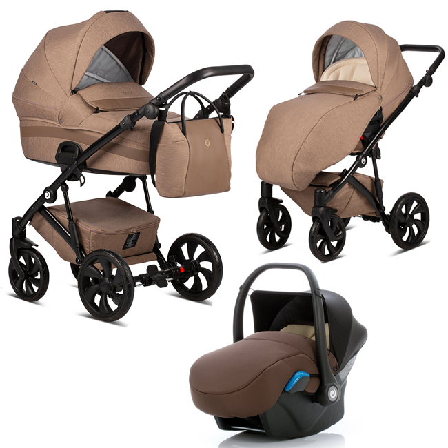 TUTIS Zippy 158 Brown Bērnu rati 3in1