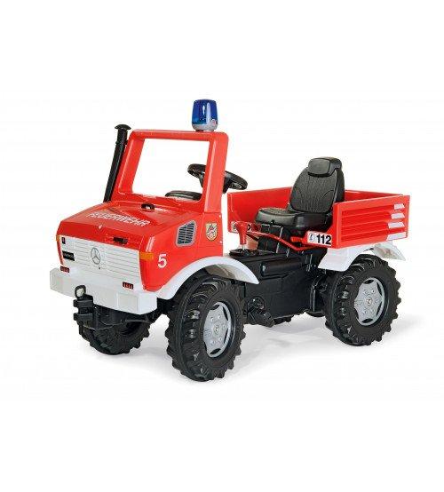 Ugunsdzesēju mašīna ar pedāļiem (2 ātrumi, bremze, gaisma) Rolly Toys rollyUnimog Fire 036639