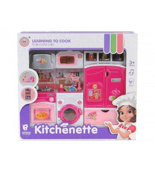 Virtuves leļļu mebeļu komplekts ar piederumiem (skaņa, gaisma) 510166