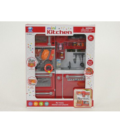 Virtuves leļļu mebeļu komplekts ar piederumiem, skaņu un gaismu 510326