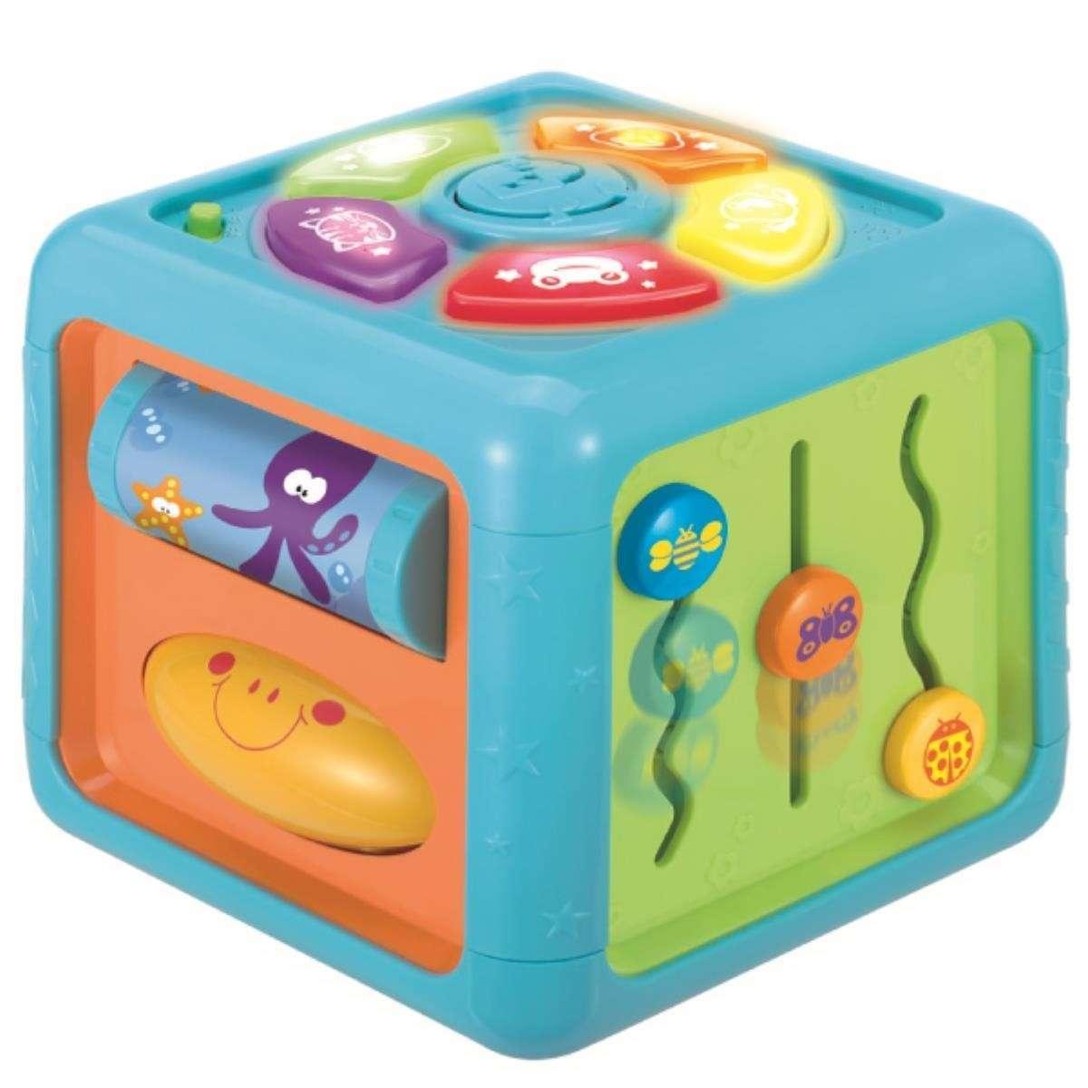 Winfun Duscovery Cube Bērnu attīstoša muzikālā rotaļlieta Kubs